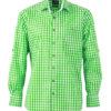 Men's Traditional Shirt - grün/weiß