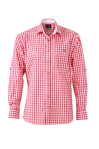 Men's Traditional Shirt - rot/weiß