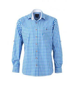 Men's Traditional Shirt - weiß/blau