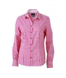 Ladies' Traditional Shirt - weiß/lila