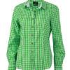 Ladies' Traditional Shirt - grün/weiß