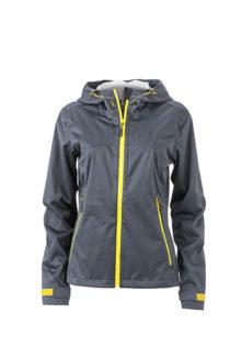 Ladies Outdoor Jacket - iron grey/yellow