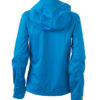 Ladies Outdoor Jacket - aqua/acid yellow