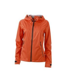 Ladies Outdoor Jacket - dark orange/iron grey