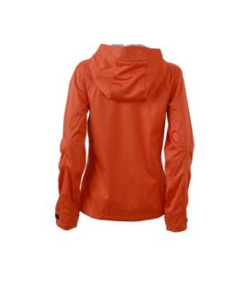 Ladies Outdoor Jacket - dark orange/iron grey