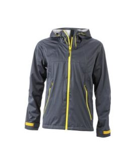 Mens Outdoor Jacket - iron grey/yellow