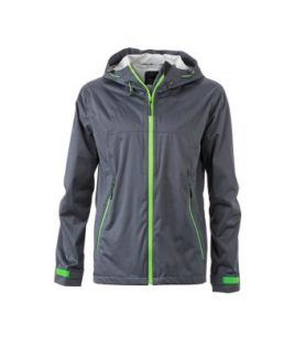 Mens Outdoor Jacket - iron grey/green