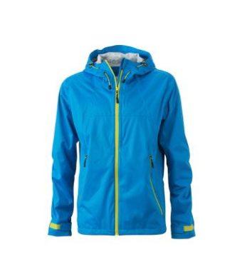 Mens Outdoor Jacket - aqua/acid yellow