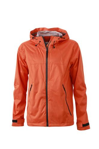 Mens Outdoor Jacket - dark orange/iron grey
