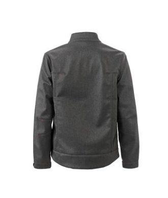 Mens Softshell Jacket - dark melange