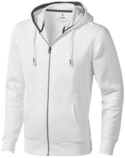 Arora Pullover mit Kapuze und Reißverschluss - weiß