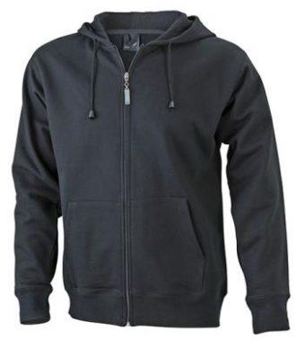 Mens Hooded Jacket James & Nicholson - black
