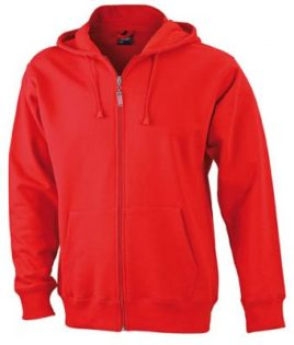 Mens Hooded Jacket - red
