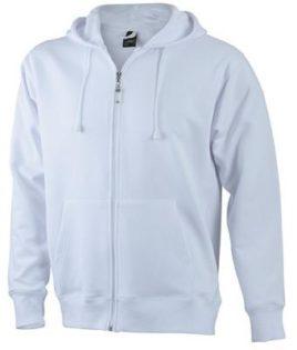 Mens Hooded Jacket - white