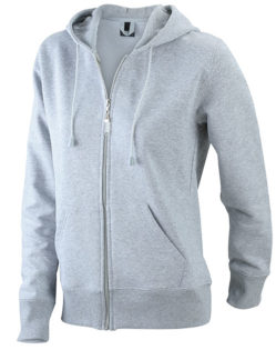 Ladies Hooded Jacket - grey heather