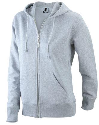 Ladies Hooded Jacket - grey heather