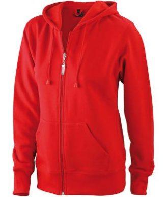 Ladies Hooded Jacket - red