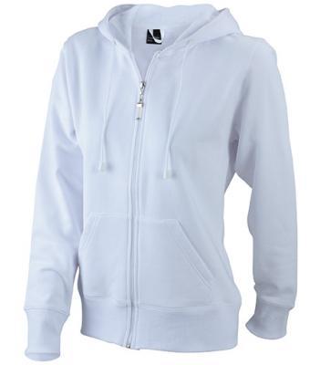 Ladies Hooded Jacket - white