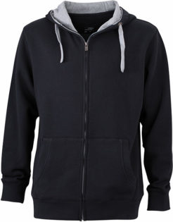Mens Lifestyle Zip Hoody - black/grey-heather