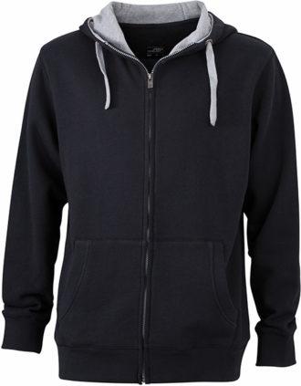 Mens Lifestyle Zip Hoody - black/grey-heather