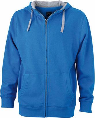 Mens Lifestyle Zip Hoody - cobalt/grey-heather