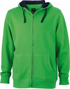 Mens Lifestyle Zip Hoody - green/navy