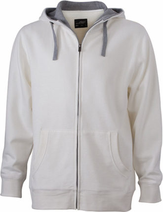 Mens Lifestyle Zip Hoody - off-white/grey heathe