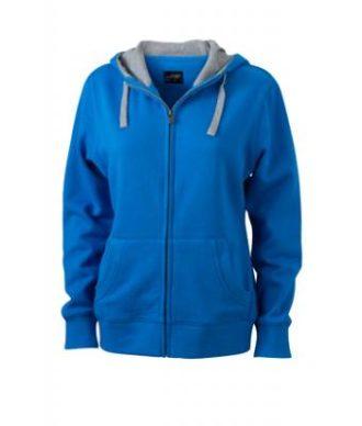 Ladies Lifestyle Zip Hoody - cobalt/grey-heather