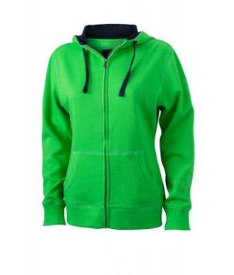 Ladies Lifestyle Zip-Hoody - green/navy