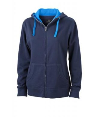 Ladies Lifestyle Zip-Hoody - navy/cobalt