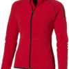 Drop Shot Damen Mikrofleece Jacke - rot/schwarz