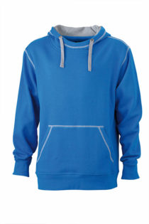 Mens Lifestyle Hoody - cobalt/grey heather