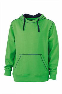 Mens Lifestyle Hoody - green/navy