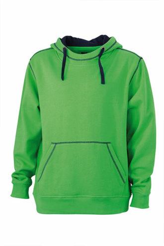 Mens Lifestyle Hoody - green/navy