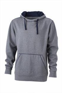 Mens Lifestyle Hoody - grey melange/navy