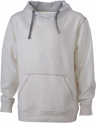 Mens Lifestyle Zip-Hoody - offwhite/grey heather