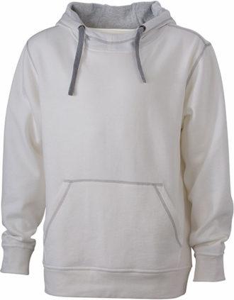 Mens Lifestyle Zip-Hoody - offwhite/grey heather
