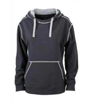 Ladies Lifestyle Hoody - black/grey heather