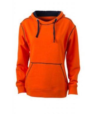 Ladies Lifestyle Hoody - dark orange/navy