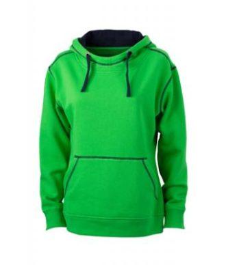 Ladies Lifestyle Hoody - green/navy