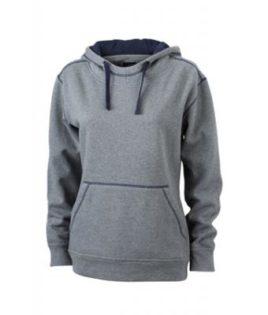 Ladies Lifestyle Hoody - grey/melange/navy