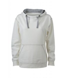 Ladies Lifestyle Hoody - offwhite/grey heather