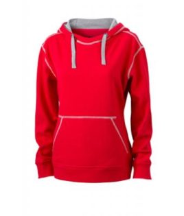 Ladies Lifestyle Hoody - red/grey heather