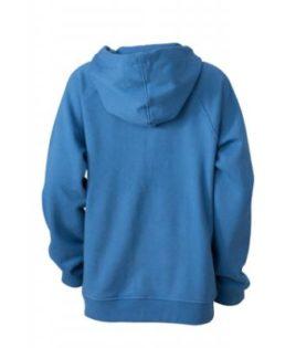 Hooded Jacket Junior - blue Rücken