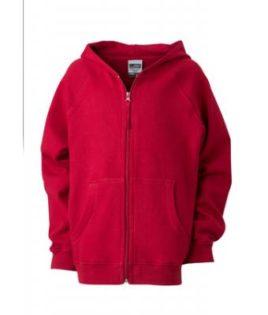 Hooded Jacket Junior - burgundy