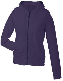 Ladies Hooded Jacket - aubergine