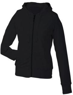 Ladies Hooded Jacket - black