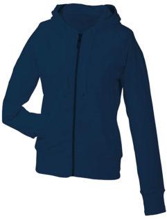 Ladies Hooded Jacket - navy