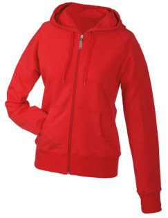 Ladies Hooded Jacket - red