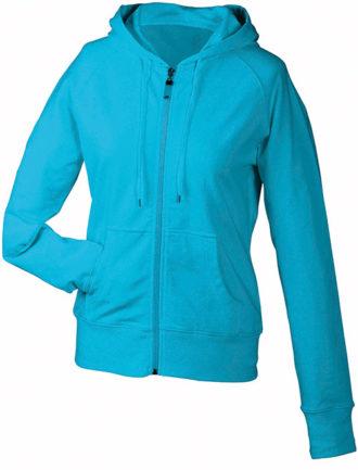 Ladies Hooded Jacket - turquoise